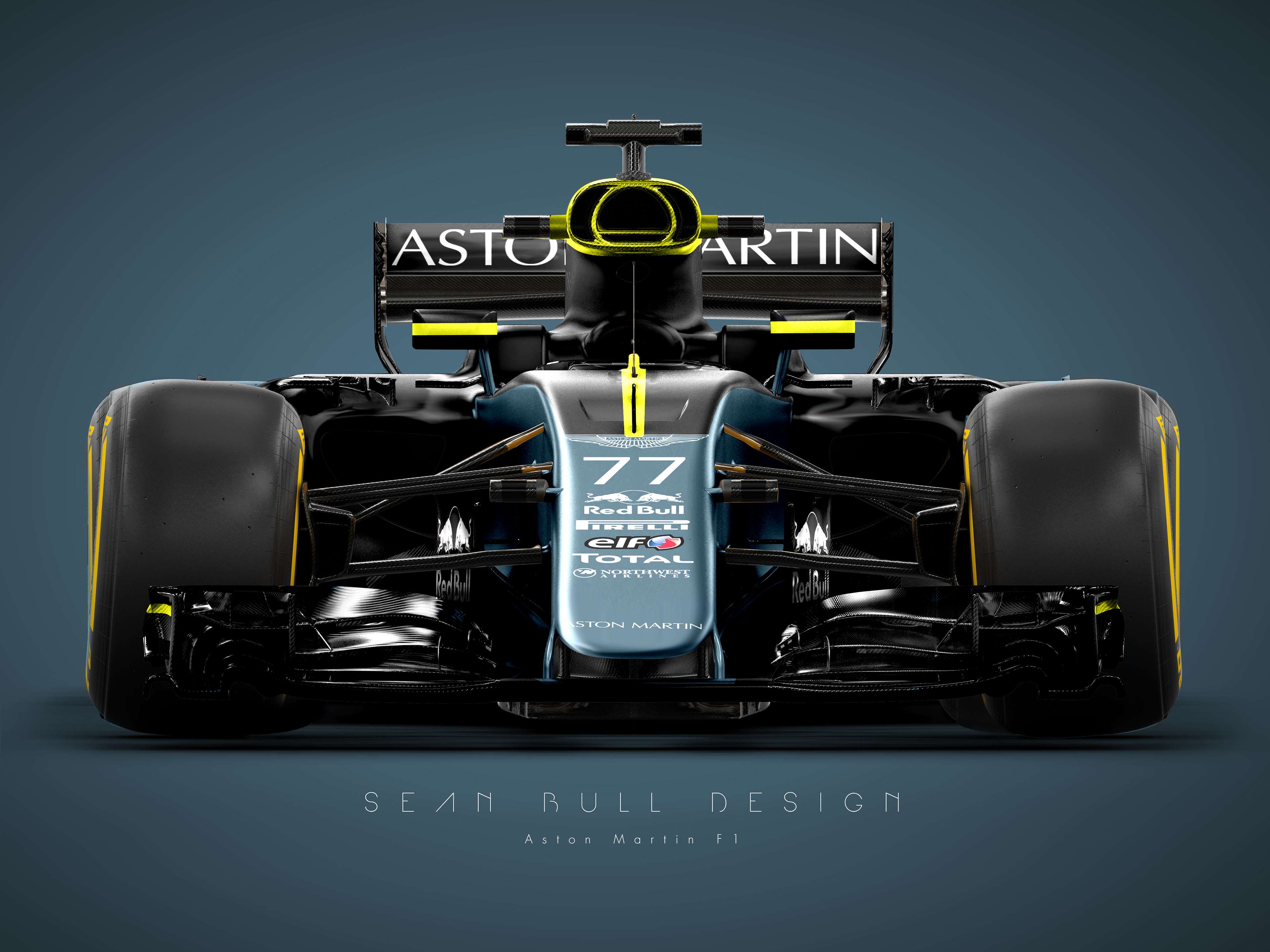Aston Martin Racing Lovely aston Martin F1 Livery Concept On Behance