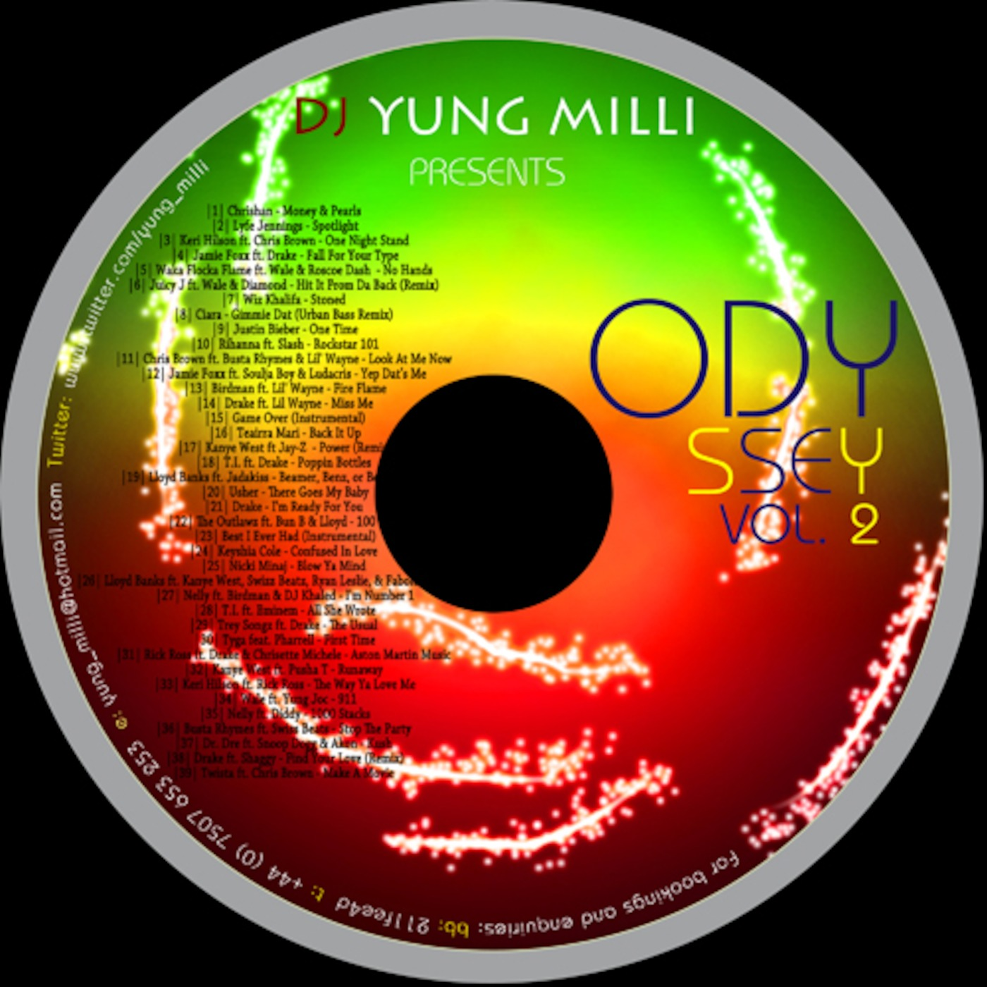 Dj Yung Milli Presents to you a fusion of Hip Hop & RnB Mixtape that is sure to make you do the Lean with it Rock with it LOL ODYSSEY VOL 2