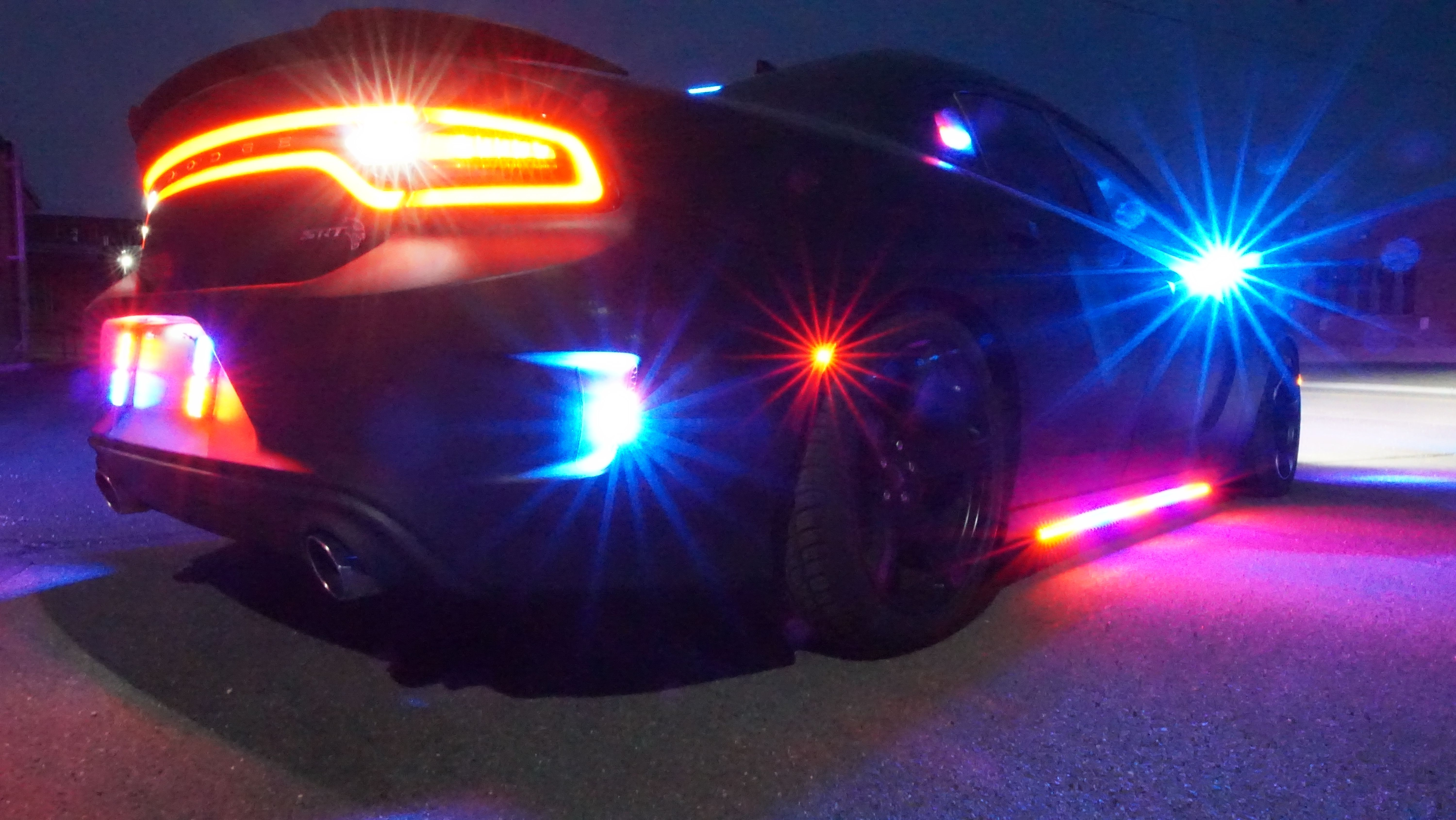 2016 Dodge Journey Luxury Bulletproof Dodge Charger Hellcat with Police Lights Armored by