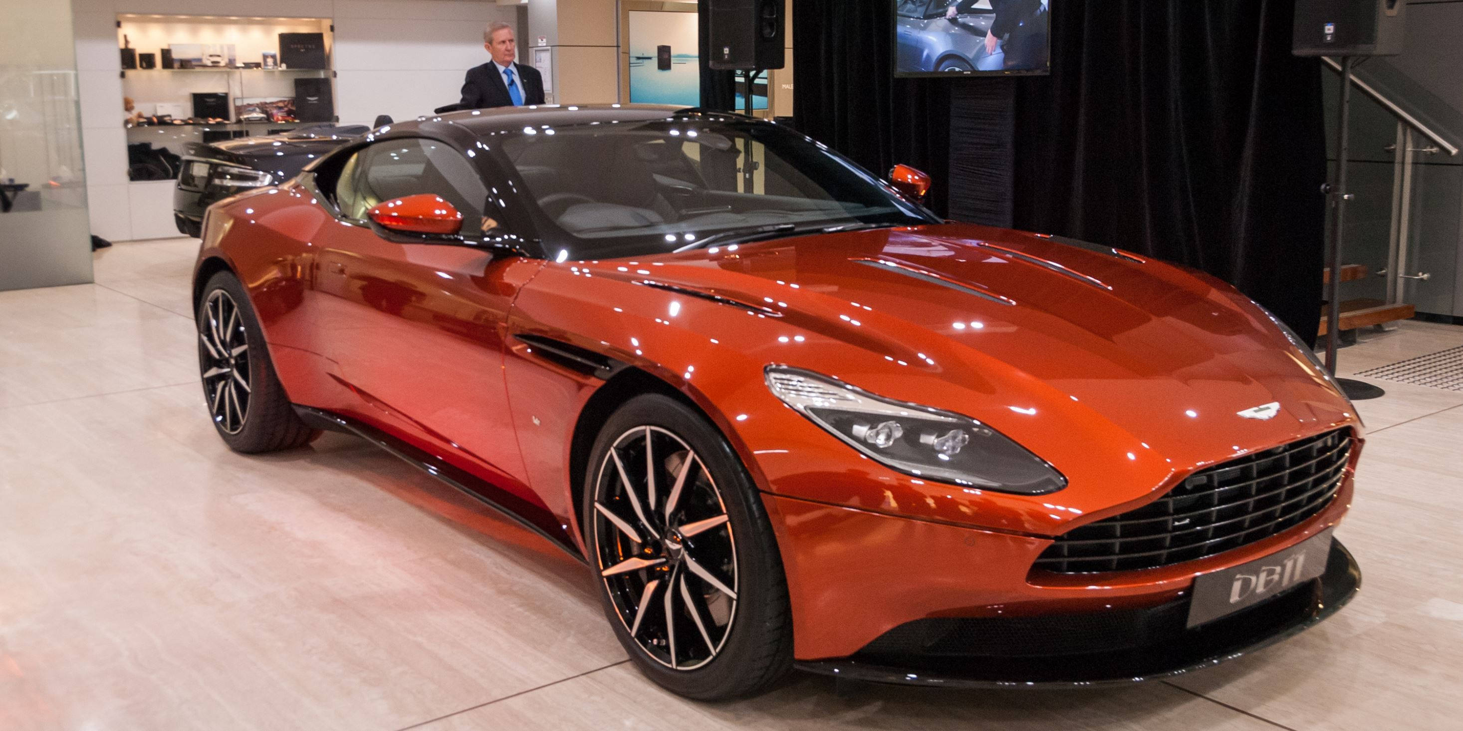 The Aston Martin DB11 has made its debut in Australia unveiled in Sydney yesterday Pricing has also been announced with the DB11 priced from $428 032