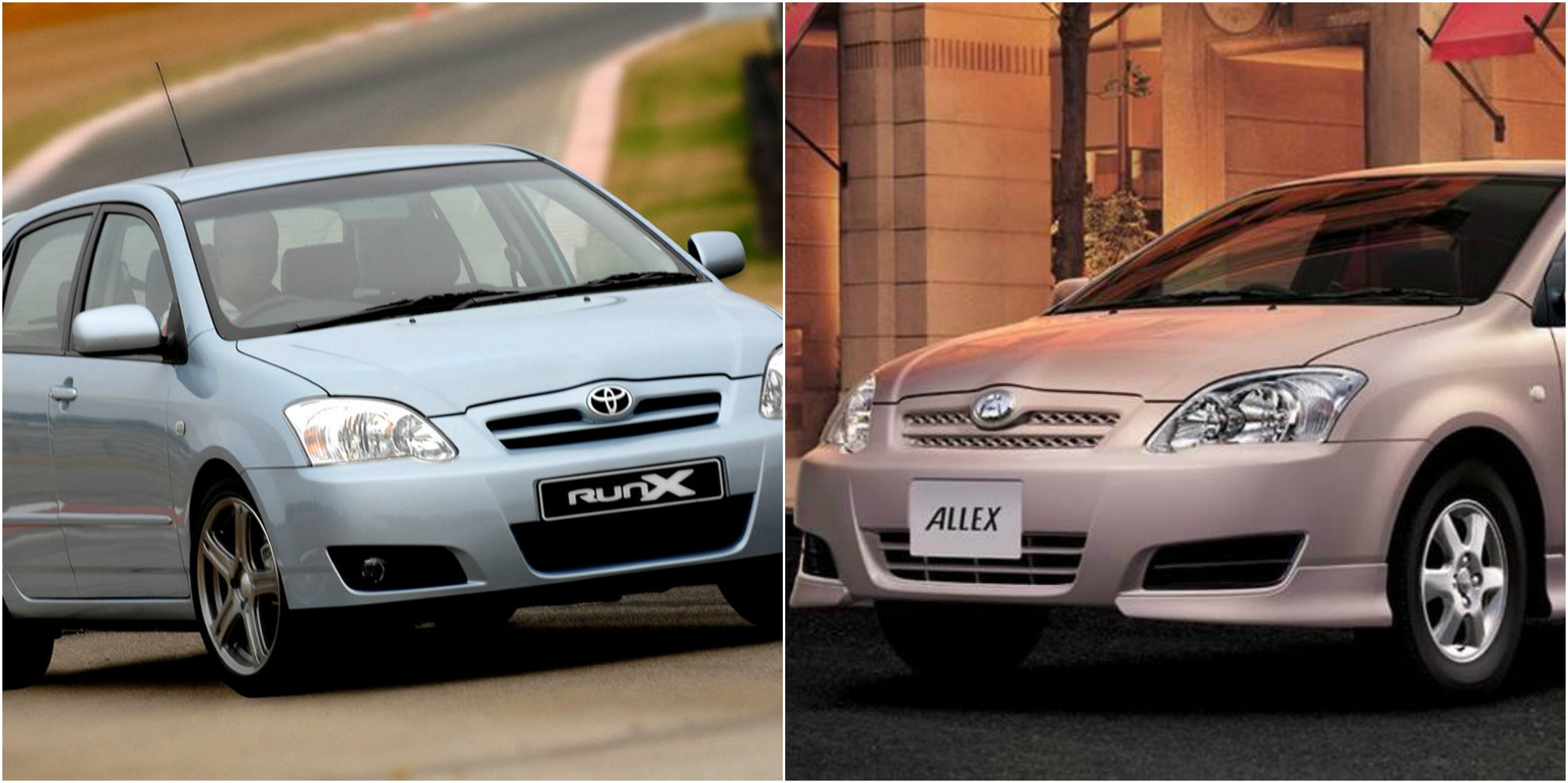 Difference between toyota RUNX and ALLEX 2