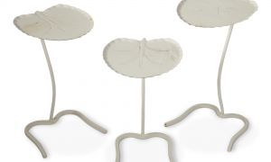 Buy Lotus Flower Lovely Artist Unknown Set Of Three Lotus Side Table