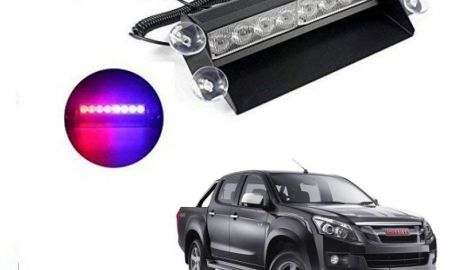 Interior isuzu Mu-x Lovely Trigcars isuzu D Mux Waterproof 8 Led Red Blue Police Flashing Light for All Cars