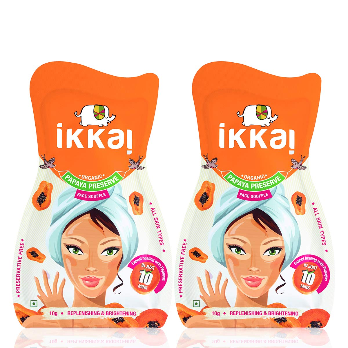 Lotus Style Fresh Buy Ikkai Papaya Preserve souffle Face Mask Face Pack 10 G