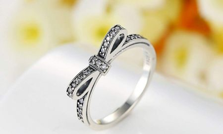 Promise Ring Infinity Knot Beautiful Bamoer 925 Sterling Silver Cz Gemstone Bow Promise Ring Infinity Romantic Love Jewelry for Women Teen Girls Stack Ring Size 6 9