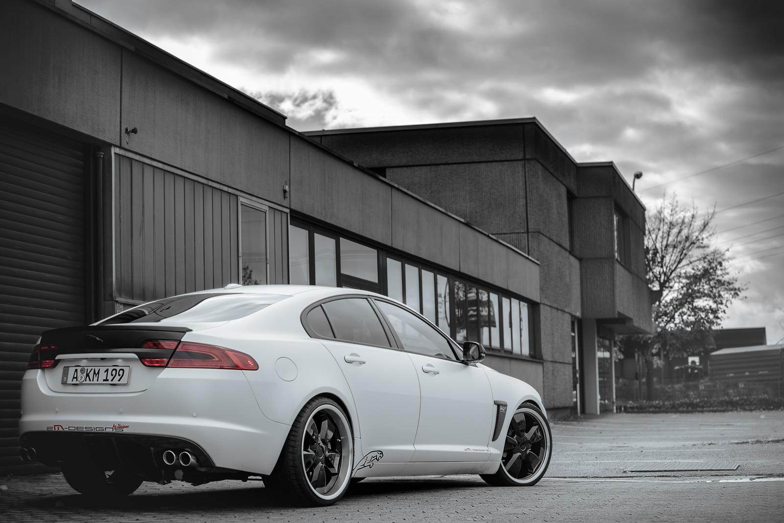 2M Designs tuned Jaguar XF rear quarter