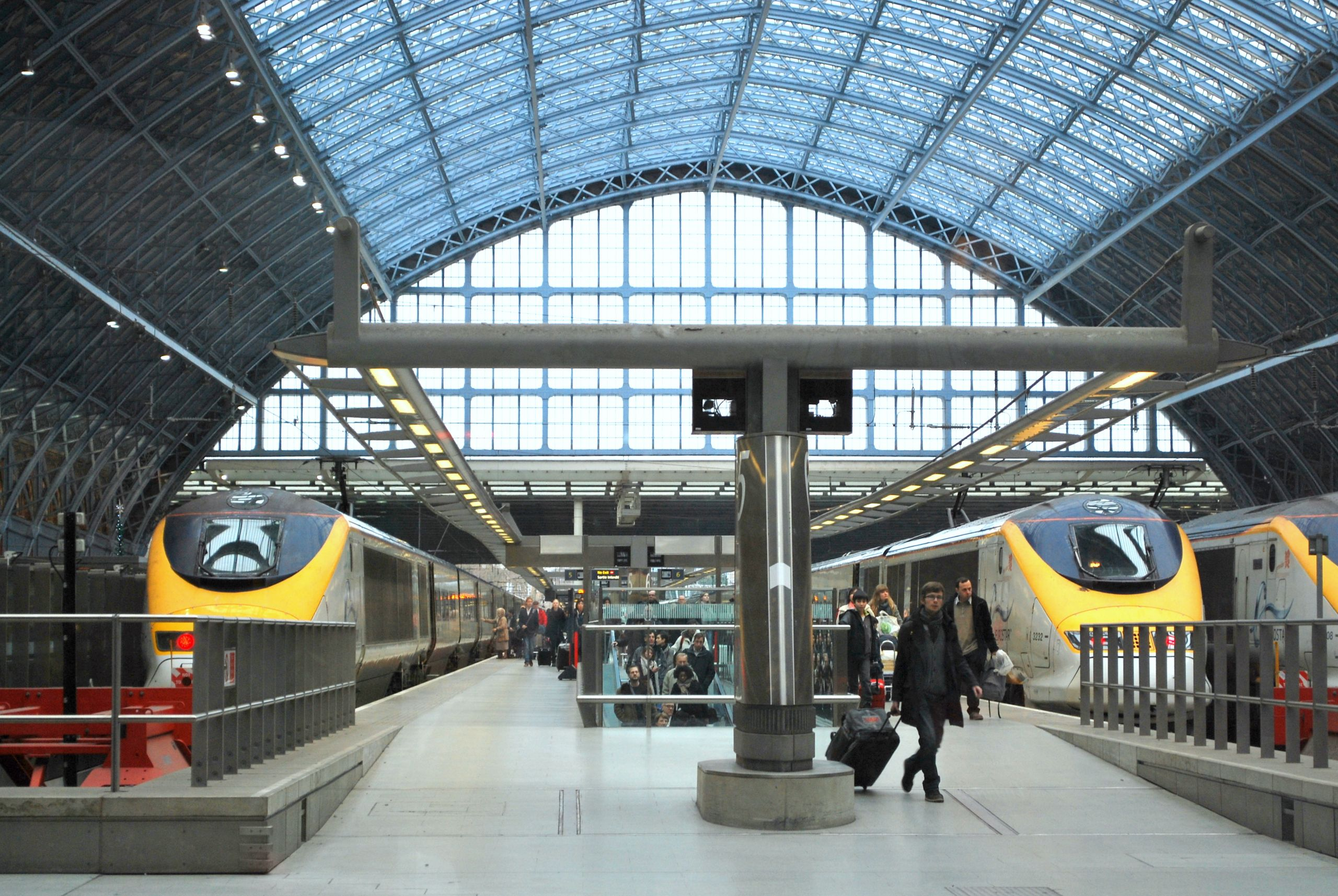 Eurostar trains at St Pancras