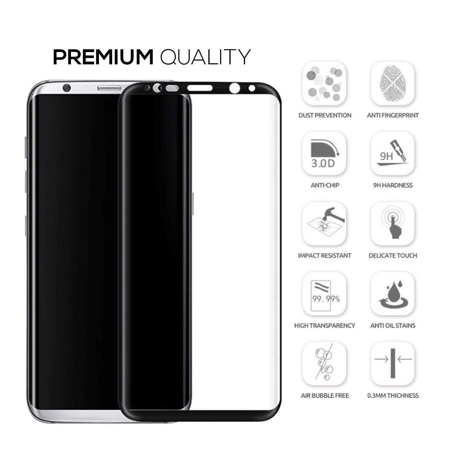 Abt.com Reviews Unique Tingtong Full Coverage Edge to Edge 5d Tempered Glass Screen Protector for Samsung Galaxy S8 Black