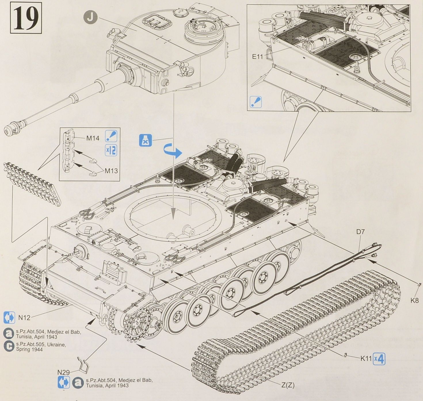 """Abt Review Fresh the Modelling News Build Review 35th Scale Tiger I """"131"""" S"""