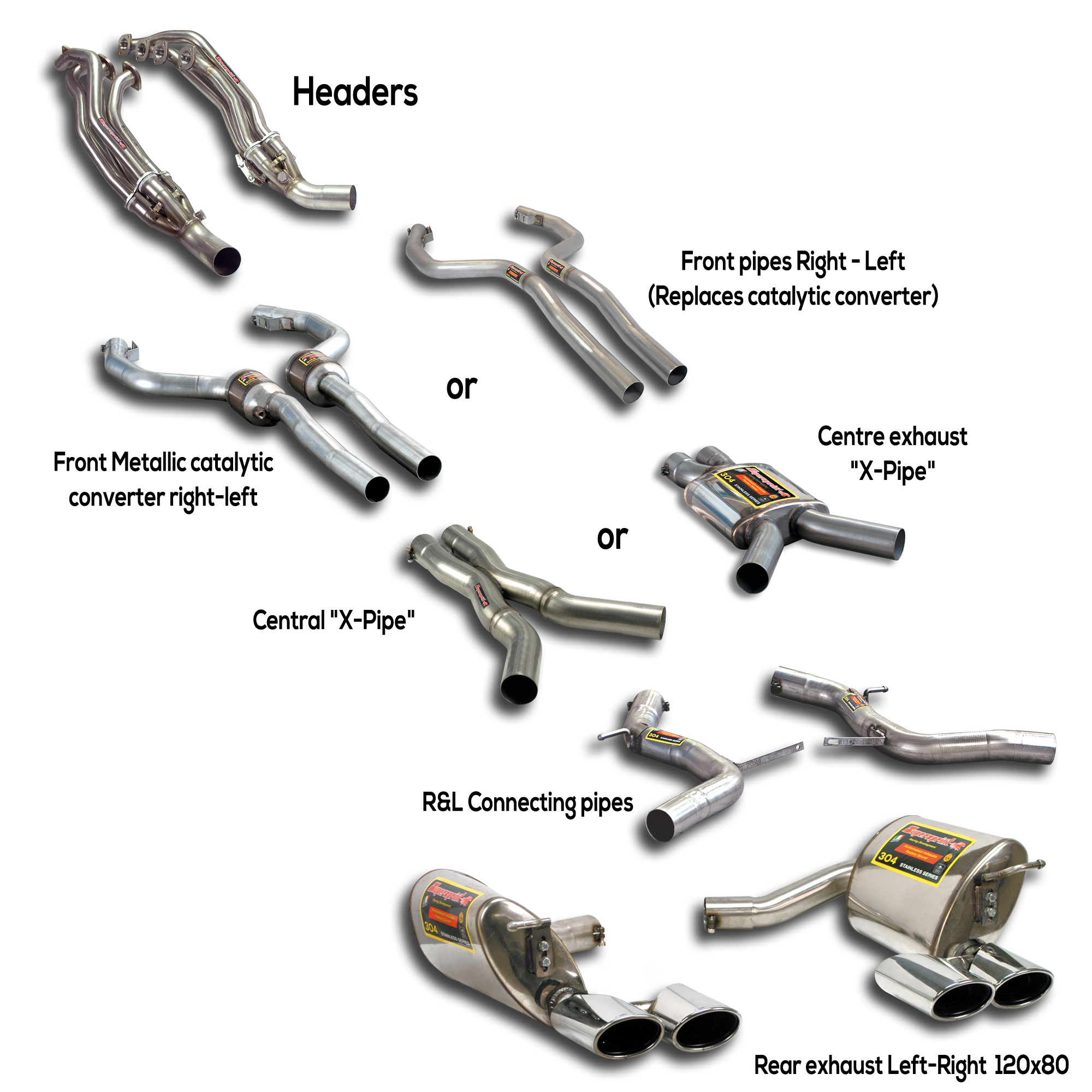 Carlsson W124 New Performance Sport Exhaust for Mercedes C219 Cls 55 Amg