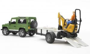 Living with A Land Rover Defender New Bruder Land Rover Defender with Trailer & Jcb 8010 Cts Micro Excavator & Figure